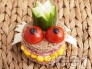 Детски сандвич Жаба Жабурана